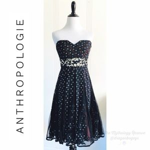 Anthropologie Lithe Champagne Cocktail Dress